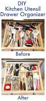 diy kitchen utensil drawer organizer easy kevin amanda make your own diy custom wood kitchen utensil drawer organizer super easy and so cheap