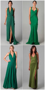 obsession of the day u2013 green column gowns