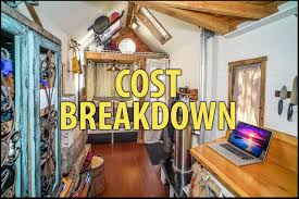 tiny homes cost tiny house cost detailed budgets itemized lists photos exles