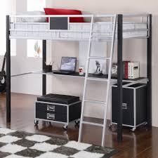 Bunk Beds With Desk Underneath Metal Loft Bunk Bed With Corner - Full bunk bed with desk underneath