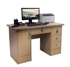 Modern Pc Desk by Computer Desk In Beech With 3 Locks 4 Home Office Table