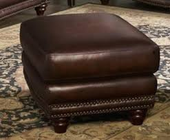 Brown Ottoman Ottoman Brown Leather Classic Traditional Brown Leather Ottoman