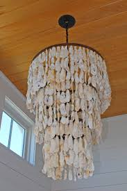 unique oyster shell chandelier 13 small home decor inspiration