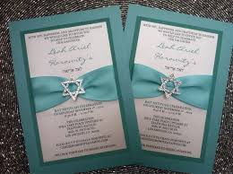 elegant sparkle bat mitzvah invitation blue star of david