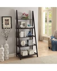 iron off the living room wood bookcase shelves display showcase flower jewelry rack shelf ikea on sale now 27 off urban style living linden center ladder bookcase