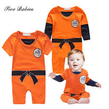 Child Dragon Halloween Costume Aliexpress Buy Dragon Ball Baby Rompers Newborn Baby Boys
