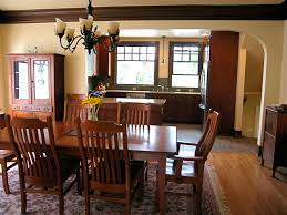 Dining Room Tables Seattle Craftsman Bungalow Kitchen 2010 Traditional Dining Room
