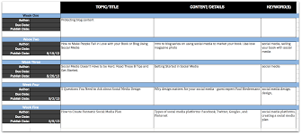 Editorial Calendar Template Excel How To Get Organized With An Editorial Calendar