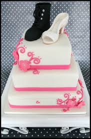 wedding cake with her shoe and his army boot cakecentral com