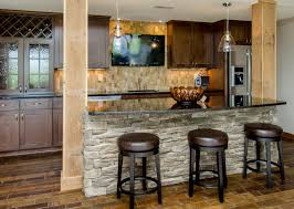 copper backsplash ideas home bar rustic with wine stone on bar front wine holder travertine backsplash tv above