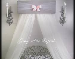 Bed Crown Canopy Crown Pelmet Upholstered Awning Gray White Pink Princess Bed