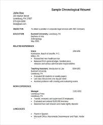 Sample Chronological Resume Template by 5 Hr Fresher Resume Template 5 Free Word Pdf Format Download