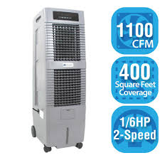 400 Sq Feet by Hessaire 1 100 Cfm 2 Speed Portable Evaporative Cooler For 400 Sq