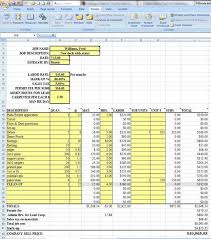 Estimate Template Excel Estimate Sheet Contractor Invoice Template Studio Design