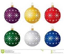 set of six christmas ornaments vector royalty free stock photos