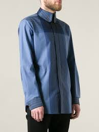 vivienne westwood checked high collar shirt in blue for men lyst