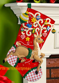 ornamental reindeer 18 bucilla felt kit