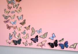 bedroom wall art a butterfly and canvas craft u2022 our house