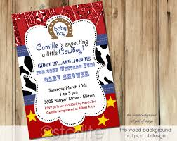 cowboy themed baby shower invitations afoodaffair me