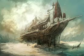 pirate sail wallpapers painting watercolor sea wave birds sail ship hd wallpaper jpg