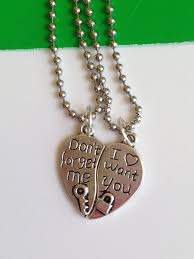 and me necklace don t forget me and i want you heart pendant necklace on luulla