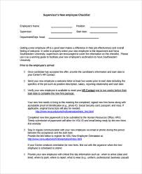sample new employee checklist 13 free documents download in pdf