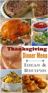 thanksgiving dinner menu what s cooking america