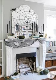 diy fall mantel decor ideas to inspire landeelu com stylish halloween mantel