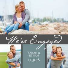 engagement announcement cards mixbook we re engaged script engagement announcements wedding