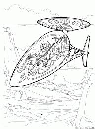 coloring page the aircraft of the future