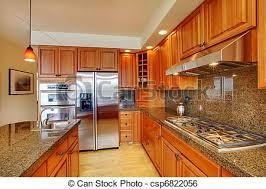 cuisine en dur beau île plancher bois dur granit cuisine port wa image