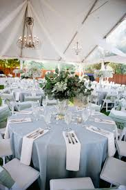 light blue and white outdoor reception decor elizabeth