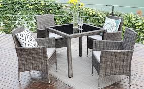 Rattan Patio Dining Set Wisteria Wicker Rattan Patio Dining Table Review Best Patio