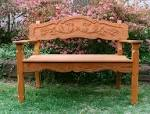 Hand Made Handcarved <b>Garden Bench</b> by Grayson Artistry In Wood <b>...</b>