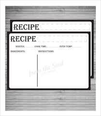 recipe card template 10 free pdf download free u0026 premium