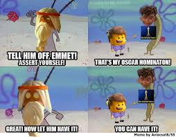 Lego Movie Memes - and that s how the lego movie didn t get nominated the lego
