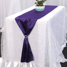 Extra Wide Table Runners Shop Satin Table Runners Purple Table Runners Luna Wedding