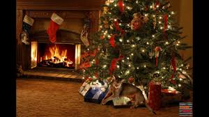 warm christmas fireplace with crackling sounds u0026 cat purring youtube