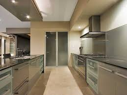 galley kitchen remodel ideas contemporary galley kitchen design with grey aluminum cabinets
