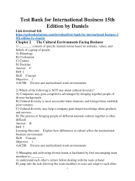 test bank for international business 15th edition by daniels