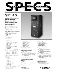 download free pdf for peavey sp 4g speaker manual