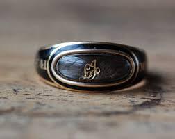 mourning ring mourning ring etsy