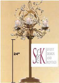 candelabra rentals candelabras s k event design and rentals