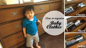 konmari how to organize baby clothes youtube