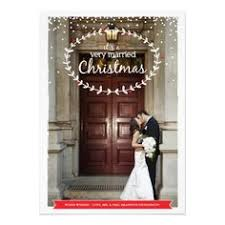 newlywed cards card christmas card married and bright christmas lights