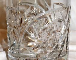 Vintage Waterford Cut Glass Crystal Vase Starburst Pattern Large Crystal Vase Etsy