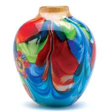 Turquoise Glass Vase Amazon Com Gifts U0026 Decor Floral Fantasia Beautiful Art Glass Vase