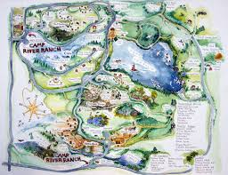 have a good thanksgiving iversen illustration finished map of camp river ranch