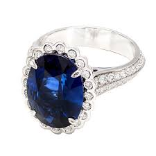 oval sapphire engagement rings certified 6 48 carat oval sapphire halo platinum