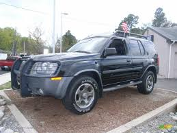 nissan xterra black super black 2003 nissan xterra se v6 supercharged exterior photo